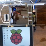 Install a VNC server on the Pi and a VNC client on the iPhone/iPad. Example provided with iPad controlling an EggBot. Now the Pi needs no external computer, keyboard, mouse or monitor — it is all controlled wirelessly from iPad or iPhone.