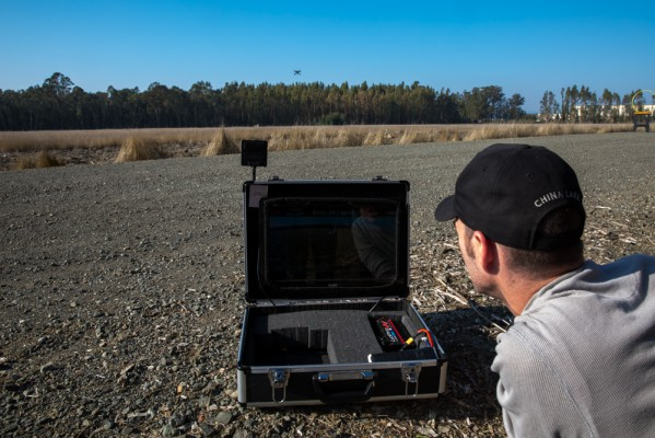 This video-in-a-briefecase came in handy for searching for downed drones in tall grass.