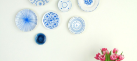 DIY Home: Hand-Painted Blue and White Plate Wall Display