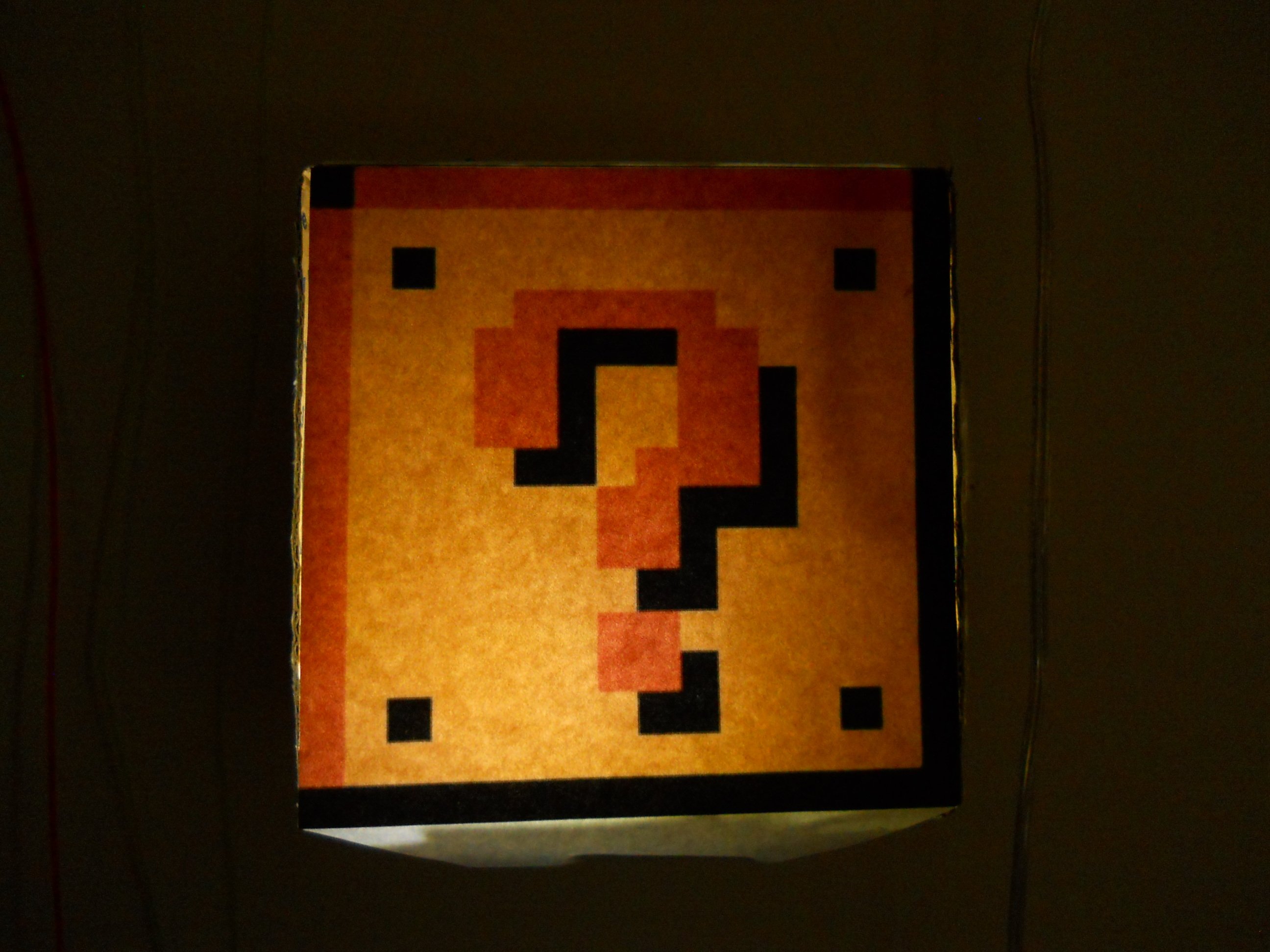 Mario Coin Block Lamp
