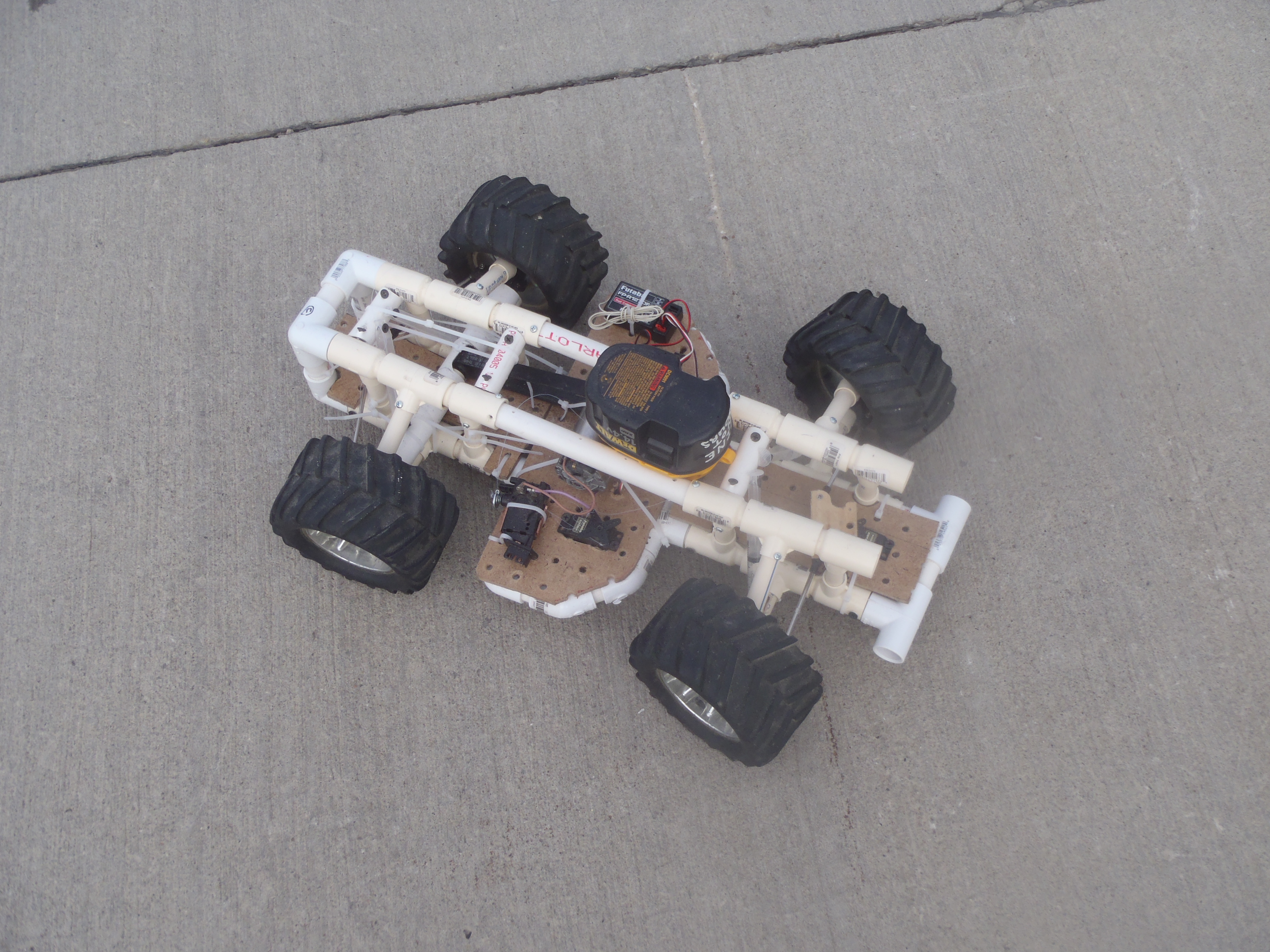 Rc Car Built From Common Materials Make
