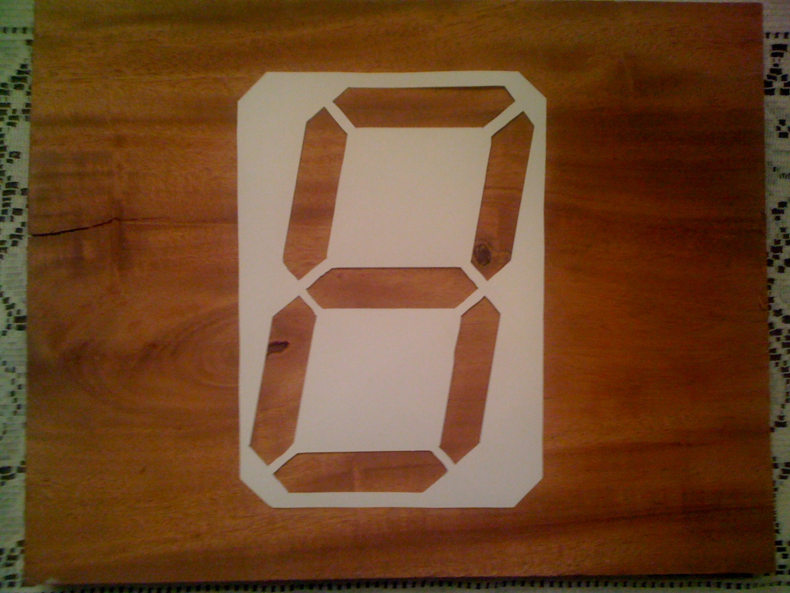 4-Foot Wooden Digital Clock
