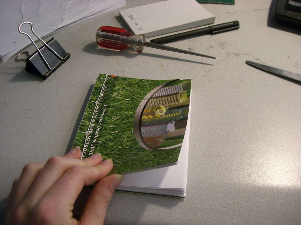 Recycle Office Paper into Blank Books